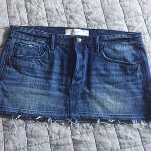 Abercrombie frayed denim skirt